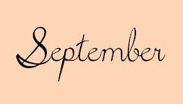 月の筆記体9月